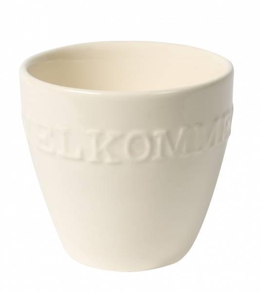 XL Mug -milky white Velkommen