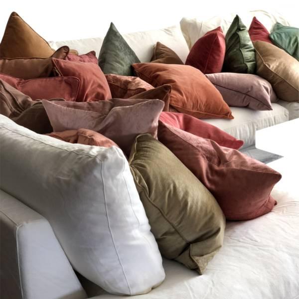 Cushion Cover Slub Velvet Raspberry