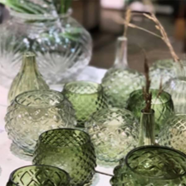 Glasslanterner Green