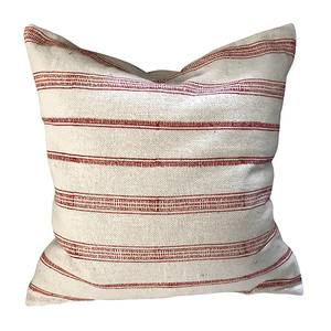 Image of Cushion cover Red stripe
